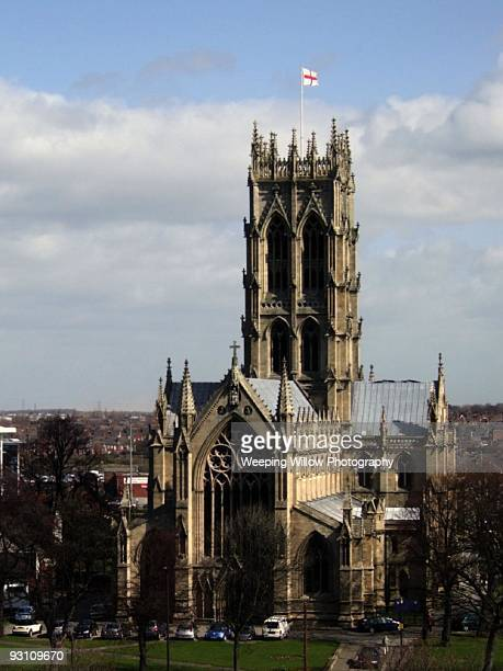 the minster church of st george, doncaster - minster stock photos and pictures