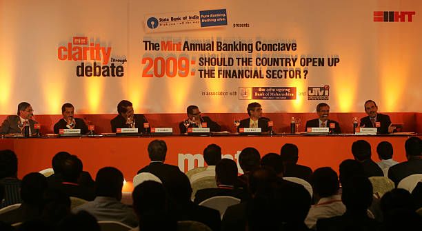 The Mint Annual Banking Conclave Mint Clarity Debate CTD Chairman and MD of Punjab National Bank KC Chakrabarty Citigroup India CEO Sanjay Nayar MD...