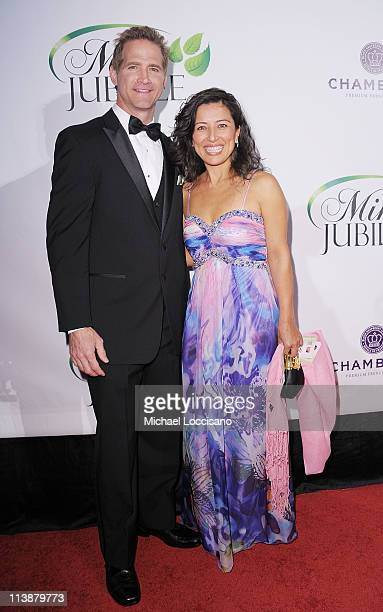 The Mint Jubilee cofounder Matt Battaglia and his wife Tina Battaglia attend the The Mint Jubilee at The Palace Theatre on May 6 2011 in Louisville...