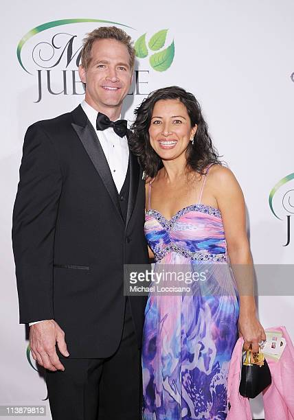 The Mint Jubilee cofounder Matt Battaglia and his wife Tina Battaglia attend The Mint Jubilee at The Palace Theatre on May 6 2011 in Louisville...