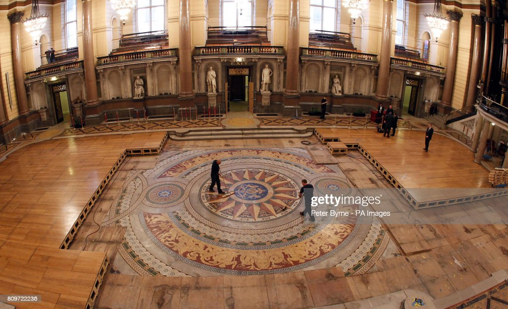 St Georges Hall Minton Tiled Floor Pictures Getty Images