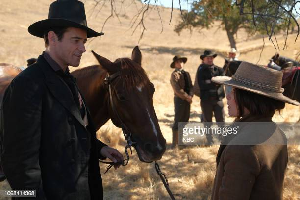 TIMELESS 'The Miracle of Christmas Part l ' Episode 211 Pictured Goran Visnjic as Garcia Flynn Abigail Spencer as Lucy Preston