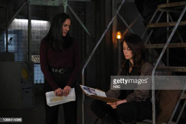 TIMELESS 'The Miracle of Christmas Part l ' Episode 211 Pictured Sakina Jaffrey as Denise Christopher Abigail Spencer as Lucy Preston
