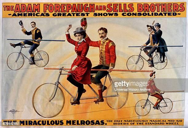 The Miraculous Melrosas Forepaugh Sells Bros Circus Poster circa 1900