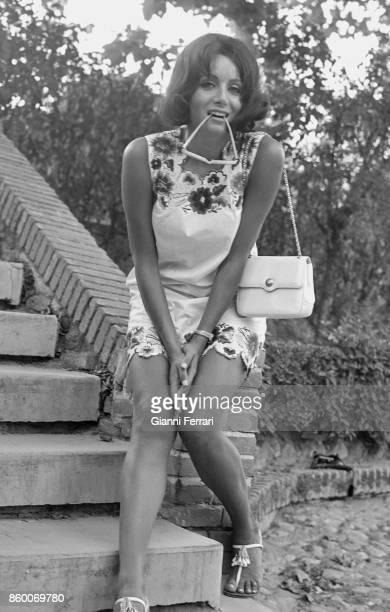The Miss Italia 1959 and actress Maria Grazia Buccella Madrid Spain
