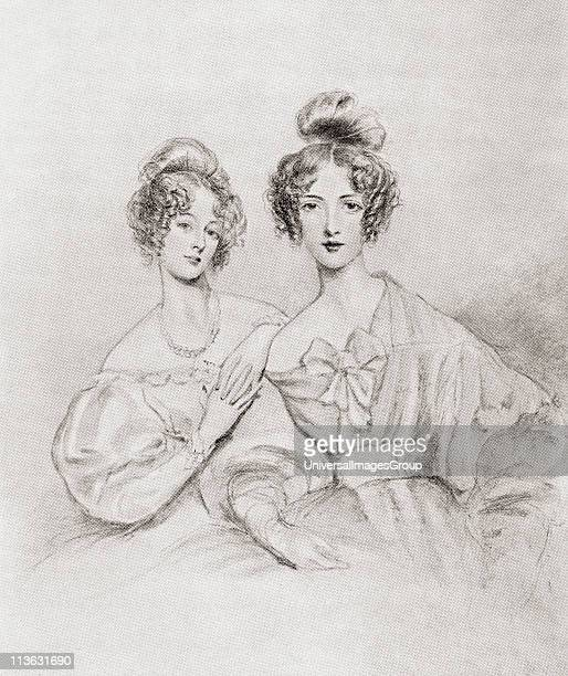 The Misses Catherine and Mary Glynne Catherine Glynne Gladstone nee Catherine Glynne1812 to 1900 Wife of British Prime Minister William Gladstone...