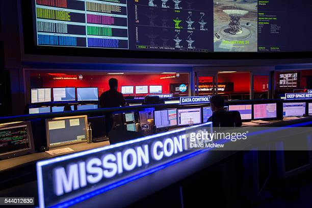 The mission control room of the JPL Space Flight Operations Facility is seen at JPL as NASA officials and the public look forward to the Independence...