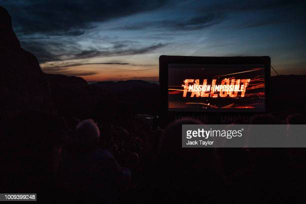 The 'Mission Impossible Fallout' Pulpit Rock Norway Screening on August 01 2018 in Forsand Norway