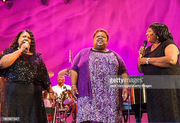 The Mississippi-based gospel trio The Como Mamas with, l-r, Esther Mae Smith, Della Daniels, and Angela Taylor perform at the 30th Annual Roots of...