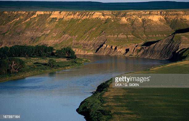 The Missouri River near Fort Benton Charlie Russell Country Montana United States