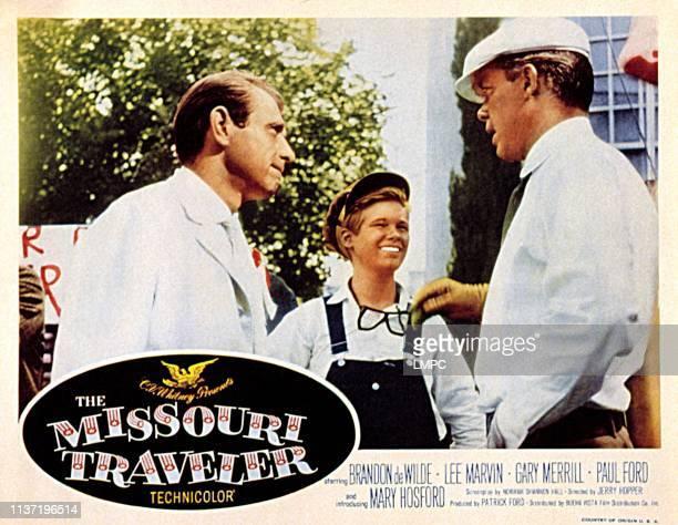 The Missouri Traveler, lobbycard, Gary Merrill, Brandon de Wilde, Lee Marvin, 1958.