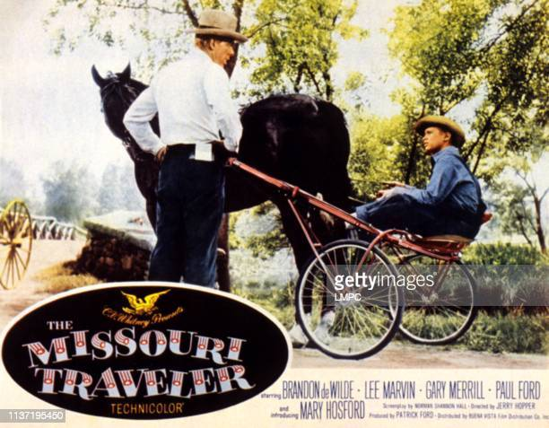 The Missouri Traveler, lobbycard, Lee Marvin, Brandon de Wilde, 1958.