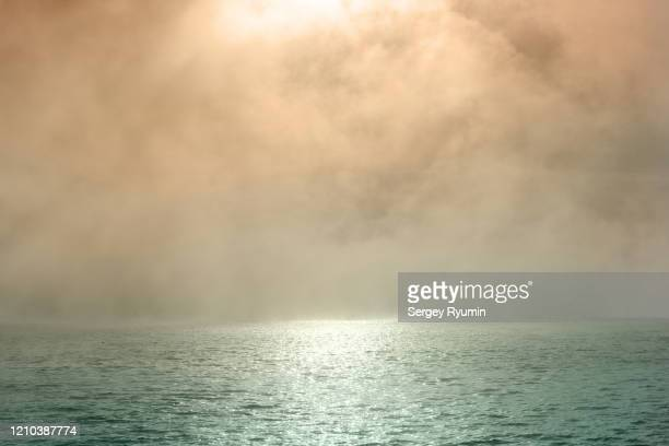 the mist of morning - fog stock pictures, royalty-free photos & images