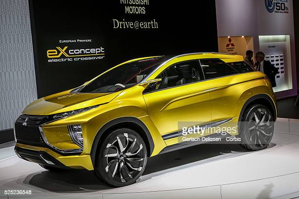 The Mitsubishi EX Concept on display at the 86th Geneva International Motorshow at Palexpo in Switzerland, March 2, 2016.