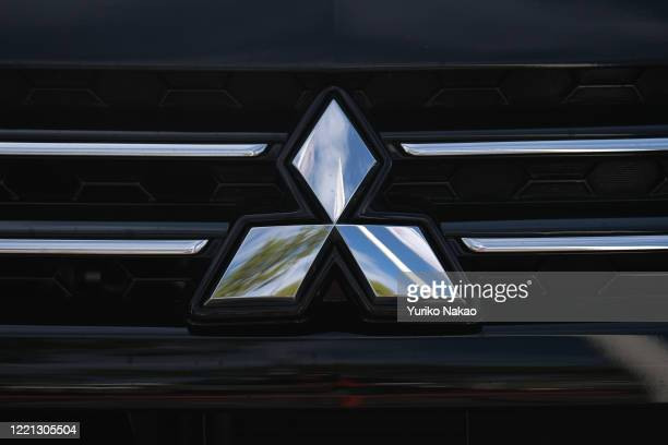 The Mitsubishi Motors logo is seen on an vehicle displayed outside a dealer in Noordwijk, Netherlands.