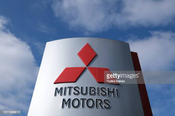 The Mitsubishi Motors logo is seen outside a dealer in Noordwijk, Netherlands.
