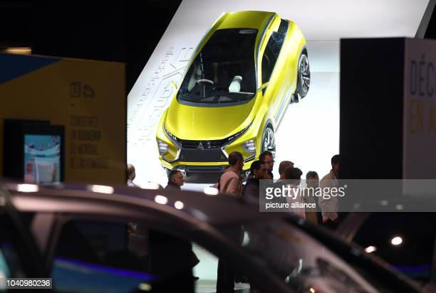 The Mitsubishi study of the electronic car des 'eXConcept' is presented on the second press day of the Paris Motor Show in Paris France 30 September...