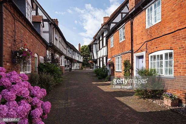 The mixed architectural styles of Malt Mill Lane in Alcester