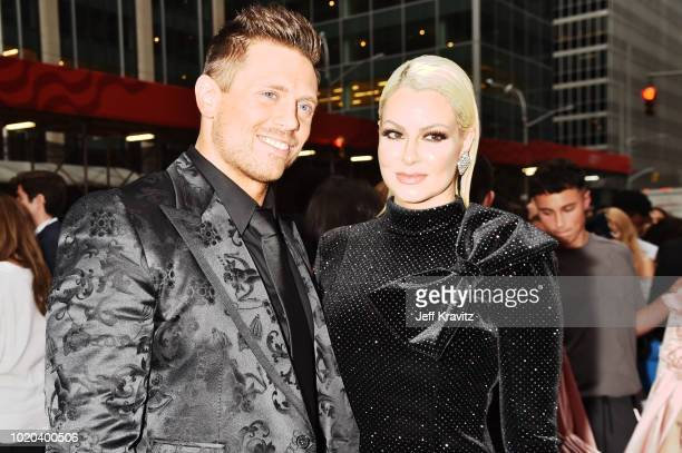 The Miz and Maryse Ouellet attend the 2018 MTV Video Music Awards at Radio City Music Hall on August 20 2018 in New York City