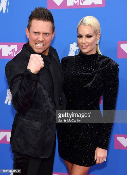 The Miz and Maryse Quellet attend the 2018 MTV Video Music Awards at Radio City Music Hall on August 20 2018 in New York City
