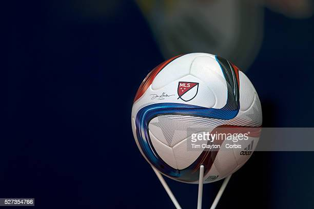 The MLS Adidas Nativo matchball before the New York Red Bulls Vs DC United Major League Soccer regular season opening match at Red Bull Arena...