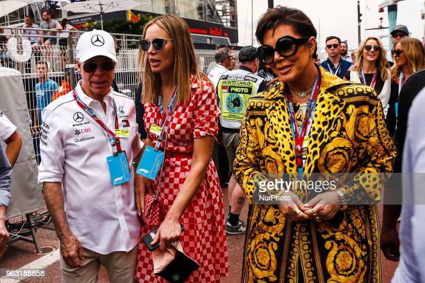 The moda designer Thomas Jacob Hilfiger with Dee Ocleppo and Kris Jenner portrait during the Race of Monaco Formula One Grand Prix at Monaco on 27th...