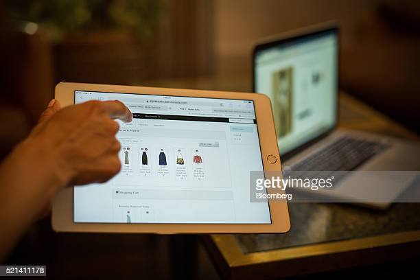 The Moda Operandi Inc website is demonstrated on a n Apple Inc iPad tablet computer during a press event in New York US on Friday April 15 2016...