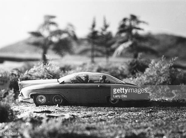 The model car used by the puppet character Lady Penelope Creighton-Ward in the British children's TV series 'Thunderbirds', 1st September 1965. The...