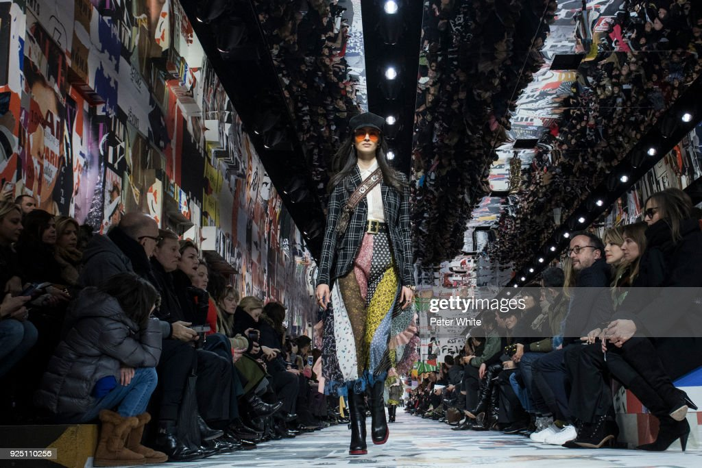 The model Laura Toth walks the runway during the Christian Dior show as part of the Paris Fashion Week Womenswear Fall/Winter 2018/2019 on February 27, 2018 in Paris, France.