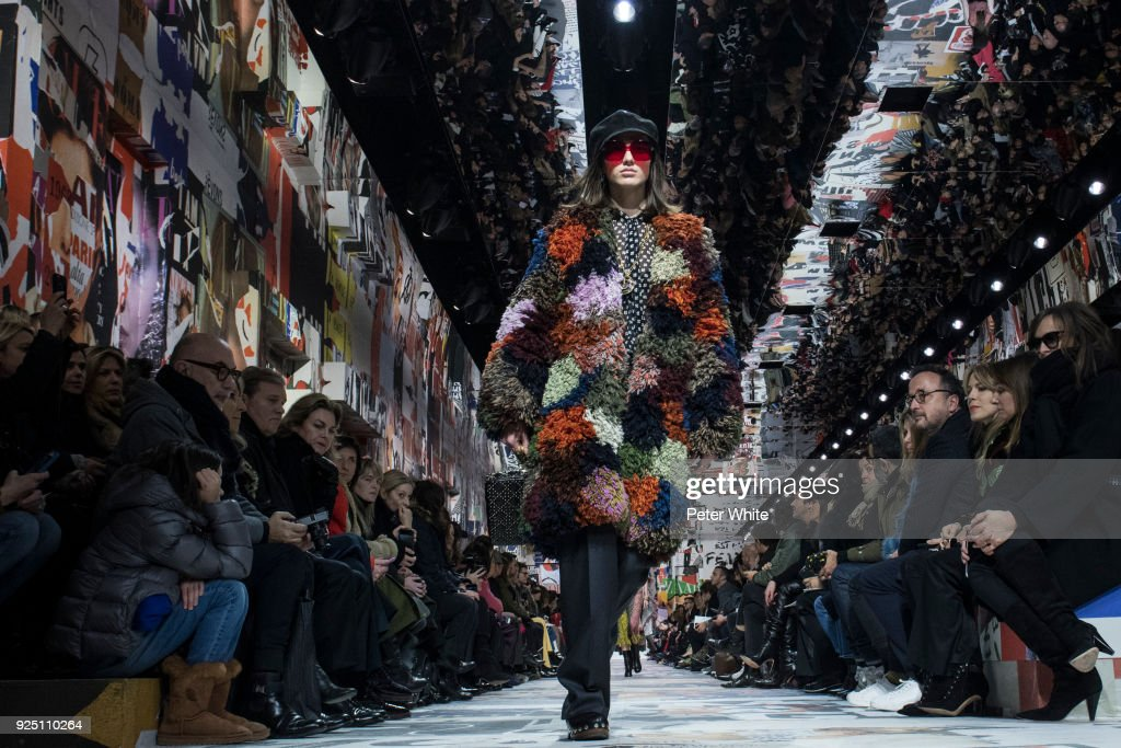 The model McKenna Hellam walks the runway during the Christian Dior show as part of the Paris Fashion Week Womenswear Fall/Winter 2018/2019 on February 27, 2018 in Paris, France.
