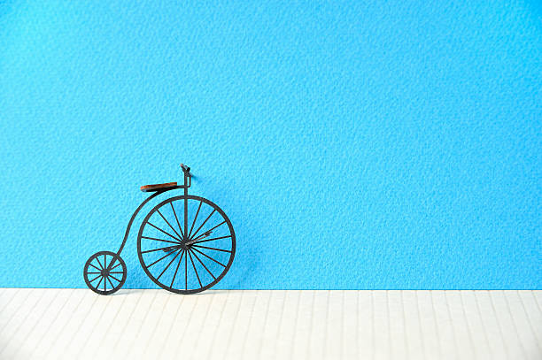 The Model Of The Bicycle Made Of The Paper Wall Art