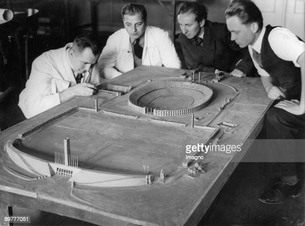 The model of the Olympic arena for the Olympic Games 1936 in Berlin Concept of the architect Werner march Photograph Around 1935