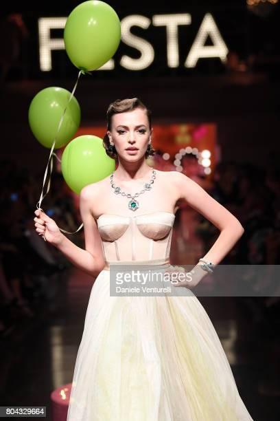 The Model show during Bvlgari Party at Scuola Grande della Misericordia on June 29 2017 in Venice Italy