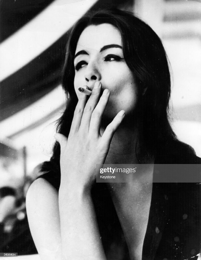 The model, showgirl and call-girl Christine Keeler, who was at the centre of the 'Profumo Affair' sex scandal. Her sexual liaisons with a Russian diplomat and cabinet minister John Profumo compromised Profumo and ultimately Macmillan's government.