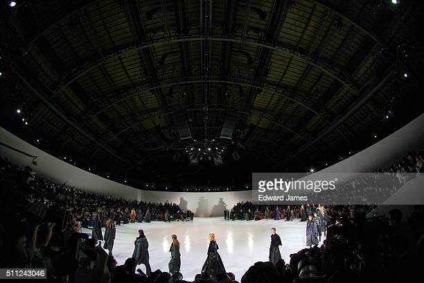 The models walk the runway during the finale during the Marc Jacobs fashion show at the Park Avenue Armory on February 18 2016 in New York City