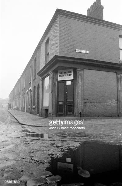 The Modern Beauty Shop a hair salon on the corner of Dalley Street in Salford England in 1963