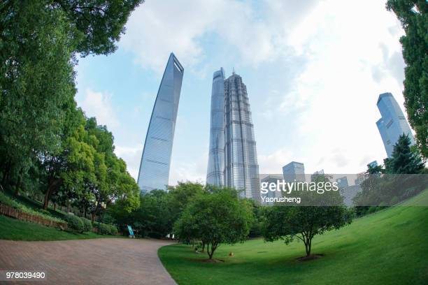 The modern building of the lujiazui, Shanghai,China