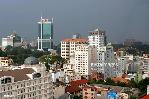 The modern cityscape of Ho Chi Minh City