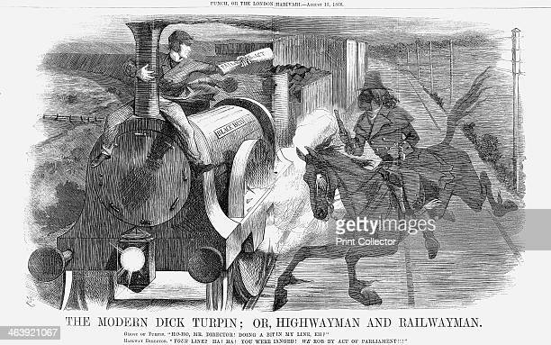 'The Modern Dick Turpin Or Highwayman and Railwayman' 1868 A comment on the performance of the country's railway network Many railway companies...