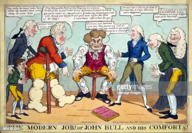 The Modern Job Or John Bull and his Comforts Pub 1816