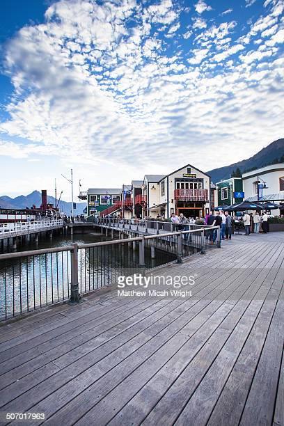 The modern Queenstown wharf
