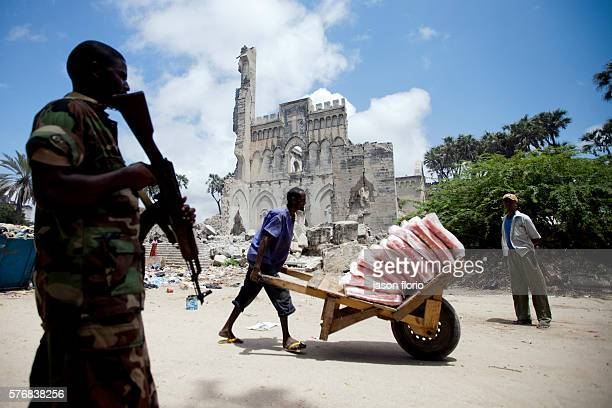 The Mogadishu Catholic cathedral that was destroyed by Islamists in 2008 and has become a refuge for Internally Displaced Persons escaping fighting...