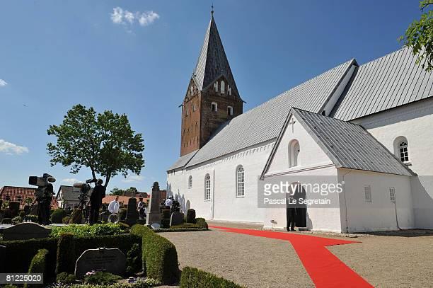 The Mogeltonder church where Prince Joachim of Denmark and Marie Cavallier got married on May 24, 2008 in Mogeltonder, Denmark.