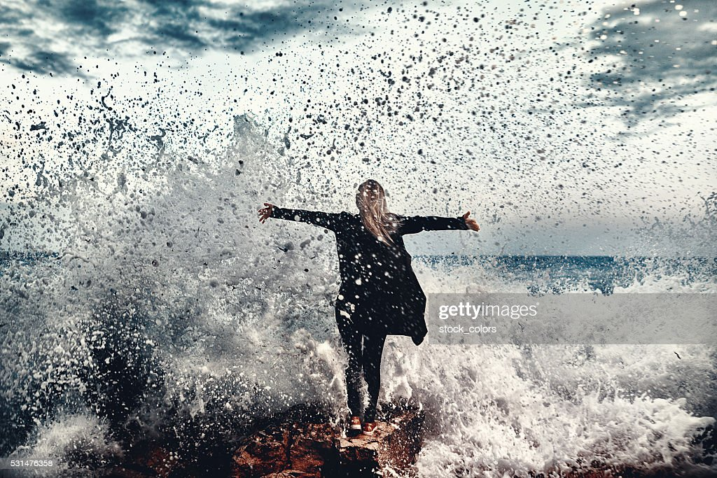 the moment when nothing matters : Stock Photo