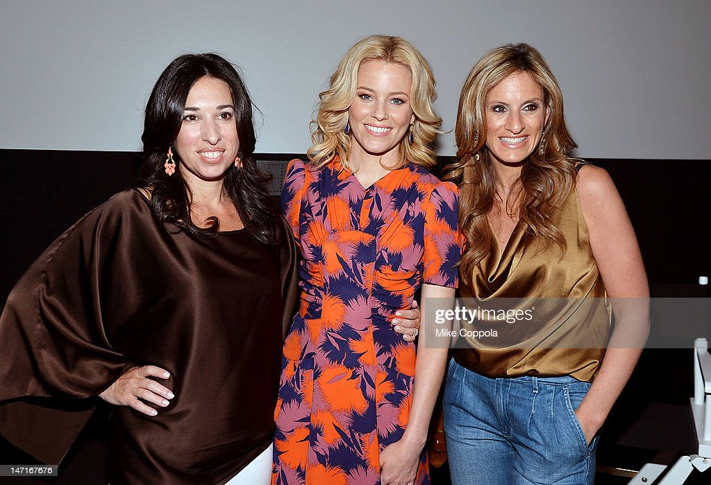 The Moms co-founder Melissa Gerstein, actress Elizabeth Banks, and The Moms co-founder Denise Albert celebrate the release of 'People Like Us' with MARTINI and The Moms at Disney Screening Room on June 26, 2012 in New York City.