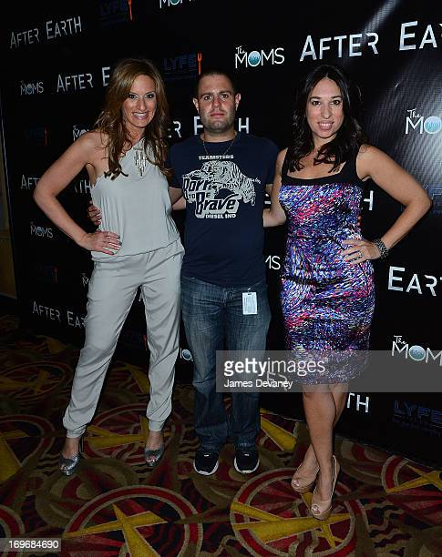 The MOMS Denise Albert and Melissa Musen Gerstein attend a screening of After Earth at Mamarazzi Event with The Moms at AMC Loews Lincoln Square 13...