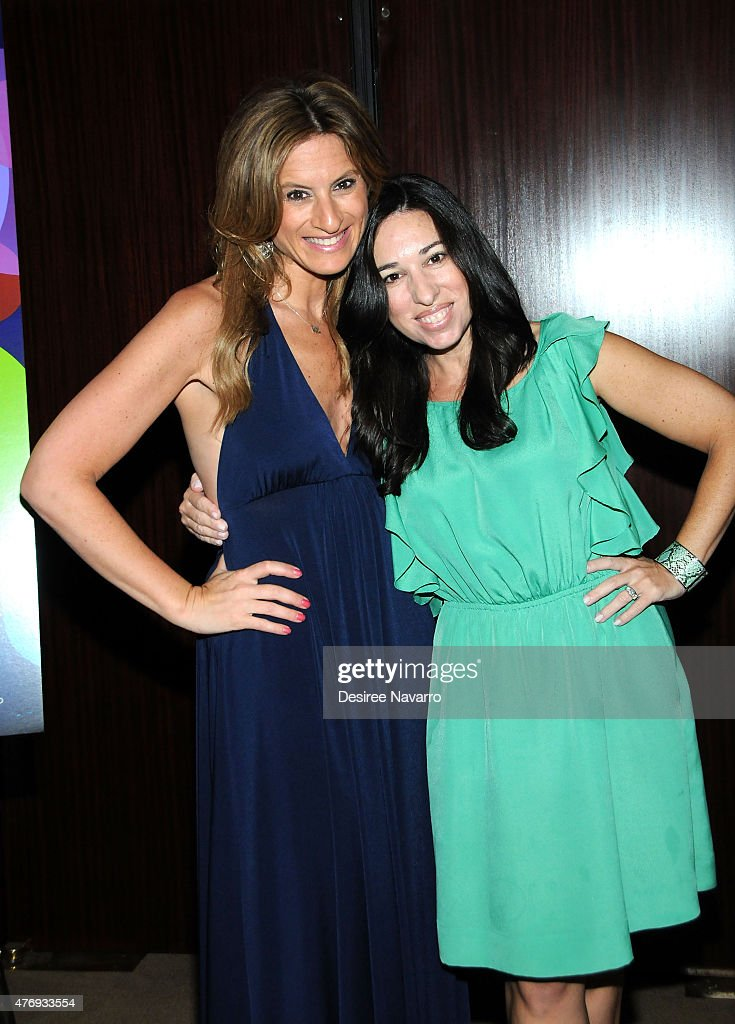 The Moms, Denise Albert (L) and Melissa Musen Gerstein attend The Moms 'Inside Out' Mamazzi Event With Bill Hader at Dolby Screening Room on June 12, 2015 in New York City.