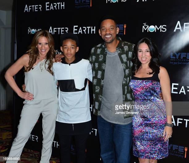 The MOMS Denise Albert Jaden Smith Will Smith and The MOMS Melissa Musen Gerstein attend a screening of After Earth at Mamarazzi Event with The Moms...