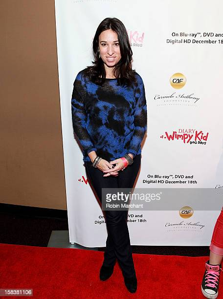 The Moms' Melissa Gerstein attends the 'Diary Of A Wimpy Kid Dog Days' Special Screening Hosted By The Carmelo Anthony Foundation at AMC Empire on...
