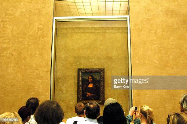 The Mona Lisa at the Louvre Museum in Paris France